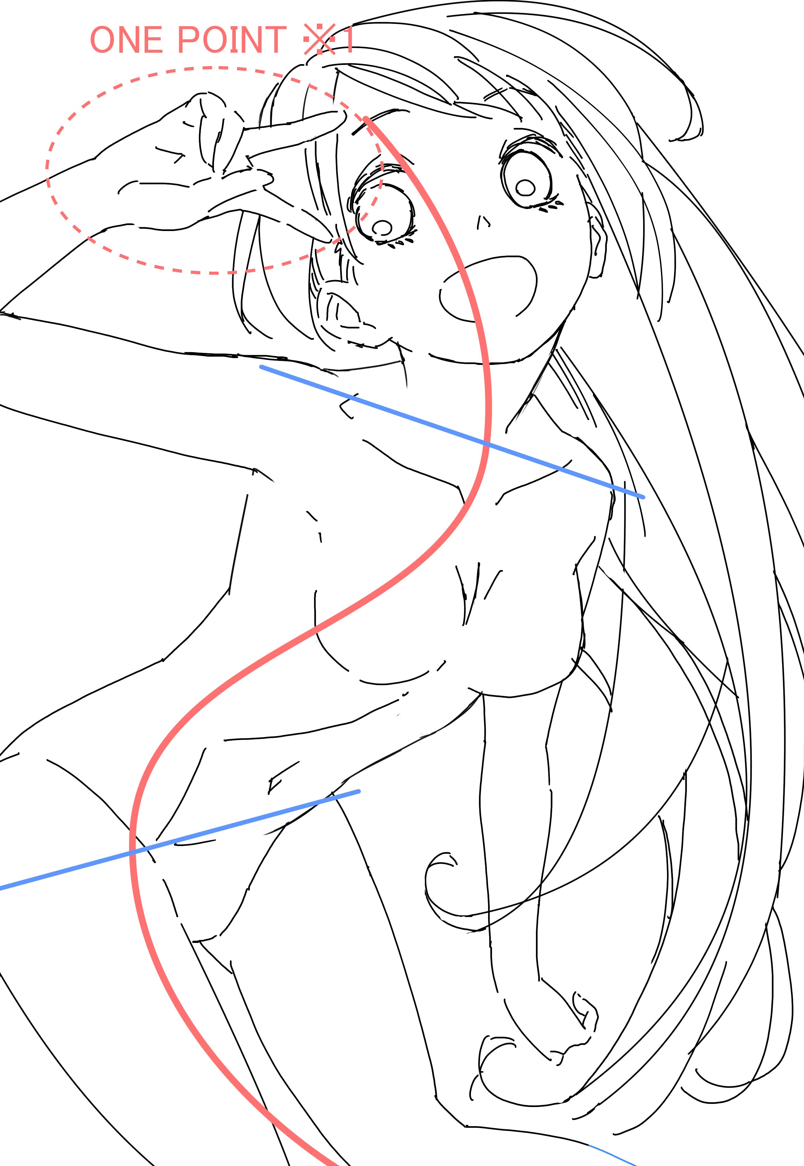 S字ポーズでグッと来る 魅力的な女の子を描くための2つのコツ いち